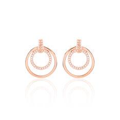 Boucles D'Oreilles Argent Rose Silvana Oxyde - Boucles d'oreilles Pendantes Femme | Marc Orian