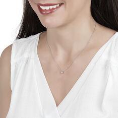 Collier Or Blanc Victoria Et Diamant