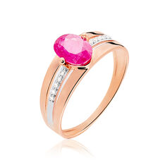 Bague Milna Or Rose Rubis