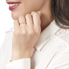 Bague Andrese Or Bicolore Trefle Diamant