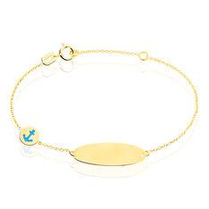 Bracelet Identite Bebe Or Jaune Plaque