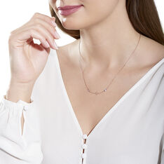 Collier Argent Rose Esia Oxyde