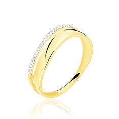 Bague Or Jaune Vague Diamants