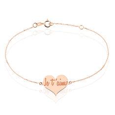 Bracelet Loucia Or Rose Coeur