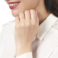 Bague Or Jaune Pastille Diamants