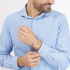 Bracelet Jonathan Acier Blanc - Bracelets chaînes Homme | Marc Orian