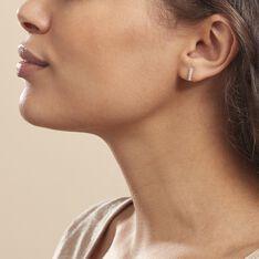 Boucles D'oreilles Puces Youssa Barrettes Or Jaune Strass - Clous d'oreilles Femme | Marc Orian