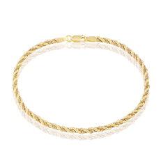 Bracelet Jerry Maille Corde Et Venitienne Or Bicolore - Bracelets mailles Femme | Marc Orian