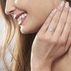 Bague Suada Argent Blanc Perle De Culture Et Oxyde De Zirconium - Bague fantaisie Femme | Marc Orian