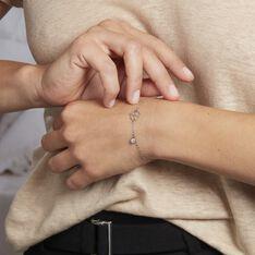 Bracelet Spirit Argent Blanc Oxyde De Zirconium - Bracelets chaînes Femme | Marc Orian