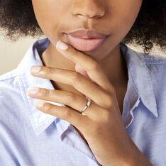 Bague Abigaelle Or Blanc Diamant - Bagues Femme | Marc Orian