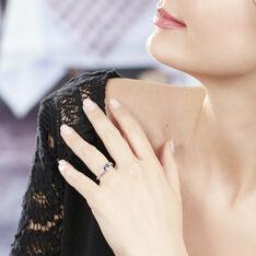 Bague Viyan Or Blanc Saphir Et Diamant - Bagues Solitaire Femme | Marc Orian