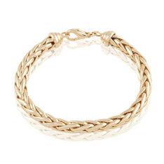 Bracelet Avelyne Maille Palmier Plaque Or Jaune - Bracelets mailles Femme   Marc Orian