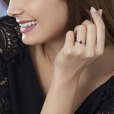 Bague Edgina Or Blanc Rubis Et Diamant - Bagues Femme | Marc Orian