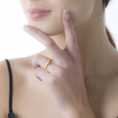 Bague Solitaire Niva Or Jaune Diamant - Bagues Solitaire Femme   Marc Orian