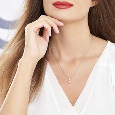 Collier Marie-helena Argent Blanc Oxyde De Zirconium - Colliers Femme   Marc Orian