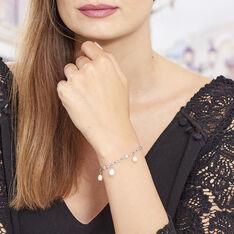 Bracelet Argent Perles De Culture Roses - Bracelets chaînes Femme | Marc Orian