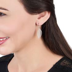 Boucles D'oreilles Pendantes Fanni Argent Blanc - Boucles d'oreilles Pendantes Femme   Marc Orian