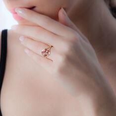 Bague Orchidee Or Bicolore Rubis Diamant - Bagues Femme   Marc Orian