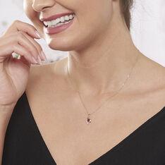 Collier Sagesse Or Jaune Rubis Et Diamant - Colliers Femme   Marc Orian