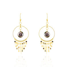 Boucles D'oreilles Or Jaune  Perles - Clous d'oreilles Femme | Marc Orian