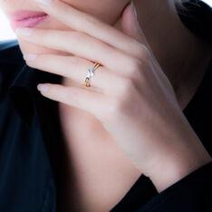 Bague Brixia Or Bicolore Diamant - Parure de mariage Femme | Marc Orian