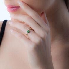Bague Monica Or Jaune Emeraude Et Diamant - Bagues Femme | Marc Orian