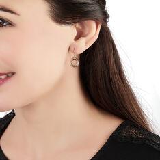 Boucles D'oreilles Pendantes Berangere Triple Cercles Or Tricolore - Boucles d'oreilles Pendantes Femme | Marc Orian