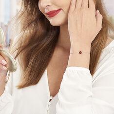 Bracelet Katoucha Argent Blanc Ambre - Bracelets chaînes Femme | Marc Orian