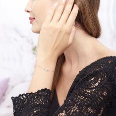 Bracelet Priscus Argent Blanc Oxyde De Zirconium - Bracelets chaînes Femme | Marc Orian