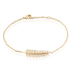 Bracelet Luz Plaque Or Feuille Oxydes - Bracelets chaînes Femme | Marc Orian