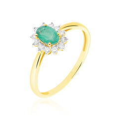 Bague Vladimir Or Jaune Emeraude Diamant - Bagues Femme | Marc Orian