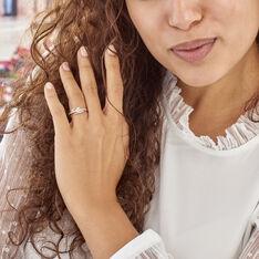 Bague Auberi Plaque Or Jaune Oxyde De Zirconium - Bagues Solitaire Femme | Marc Orian