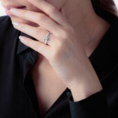 Bague April Or Blanc Oxyde De Zirconium - Bagues Solitaire Femme | Marc Orian