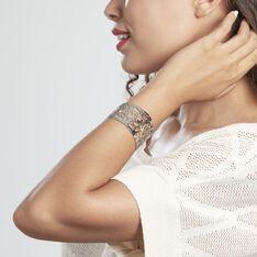 Bracelet Manchette Xaverine Acier Blanc - Bracelets manchettes Femme | Marc Orian