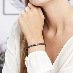 Bracelet Jonc Hélène Céramique Noire - Bracelets chaînes Femme   Marc Orian