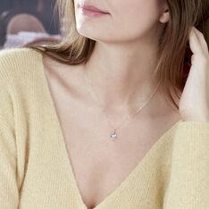 Bague Silucia Or Blanc Topaze Et Oxyde De Zirconium - Colliers Femme   Marc Orian
