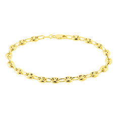 Bracelet Dami Maille Grain De Cafe Or Jaune - Bracelets mailles Femme | Marc Orian