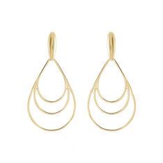 Boucles D'oreilles Pendantes Jenyfer Plaque Or Jaune - Boucles d'oreilles Pendantes Femme | Marc Orian