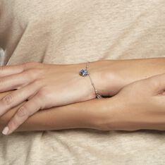 Bracelet Isin Argent Blanc Pierre De Synthese - Bracelets chaînes Femme   Marc Orian