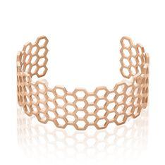 Bracelet Manchette Ouvert Acier Rose Buglose - Bracelets manchettes Femme | Marc Orian