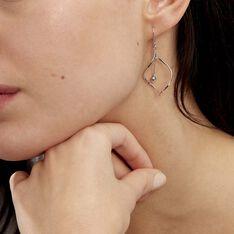 Boucles D'oreilles Pendantes Melaine Argent Blanc - Boucles d'oreilles Pendantes Femme   Marc Orian