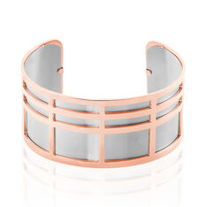 Jonc Andria Acier Rose Rectangulaires - Bracelets jonc Femme   Marc Orian