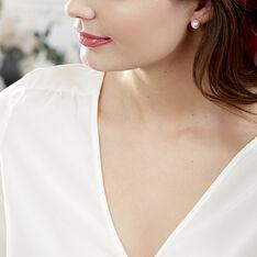 Boucles D'oreilles Puces Or Jaune Perle - Boucles d'oreilles Pendantes Femme   Marc Orian