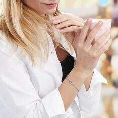 Bracelet Firouz Argent Blanc - Bracelets chaînes Femme   Marc Orian