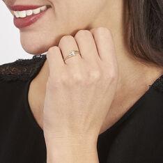 Bague Blandine Or Bicolore Diamant - Bagues Solitaire Femme | Marc Orian