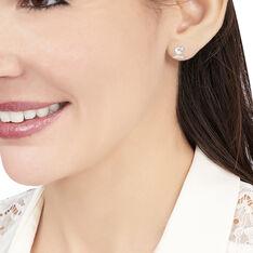 Boucles D'oreilles Or Blanc - Clous d'oreilles Femme | Marc Orian