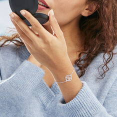 Bracelet Lev Argent Blanc - Bracelets chaînes Femme | Marc Orian