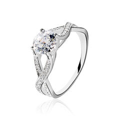 Solitaire Argent Rhodie Oxyde - Bagues Solitaire Femme | Marc Orian