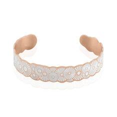 Bracelet Jonc Imagine Florette Acier Rose - Bracelets jonc Femme | Marc Orian